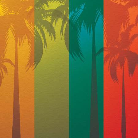 Grunge Sommerurlaub Hintergrund Tropical Banner
