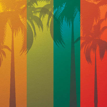 palm leaf: Grunge summer holiday background Tropical banner