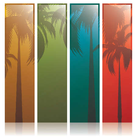 Lovely summer banners  Vector