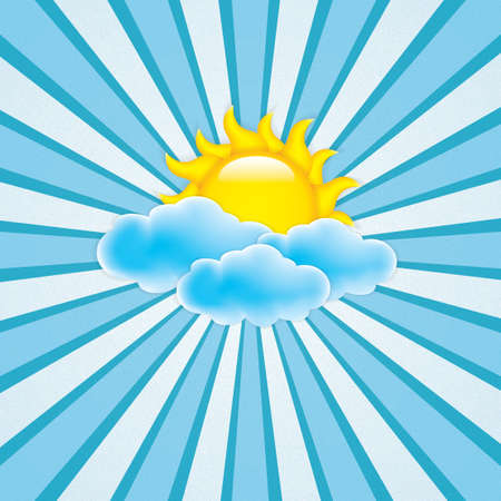 grunge blue clouds Frame Vector