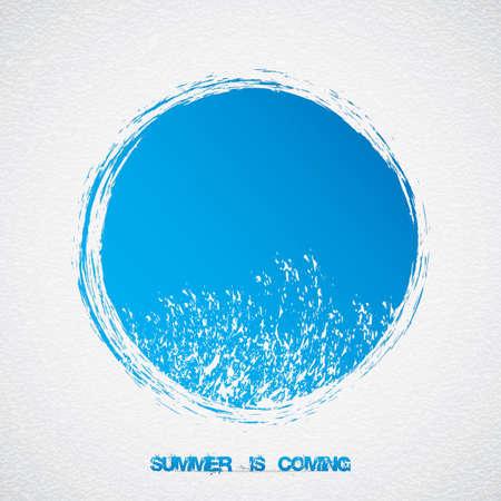 Abstract blue summer vector Wave sign Иллюстрация