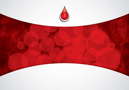 red line: Blood donation Medical background Illustration