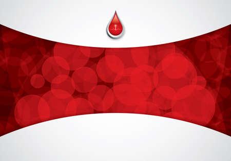 emergencia medica: Sangre de fondo donaci�n de Medicina Vectores