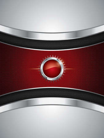 Abstract background, metallic red brochure Stock Vector - 13885303