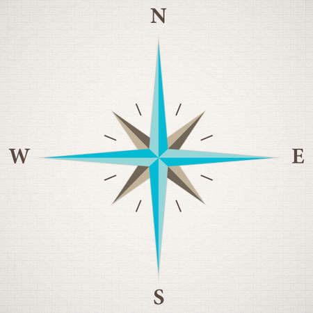 oldstyle wind rose compass Vector