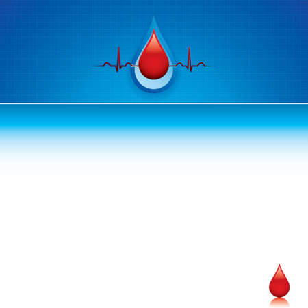 Blood donation Medical background Vector