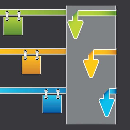 Three universal arrow style banner Vector