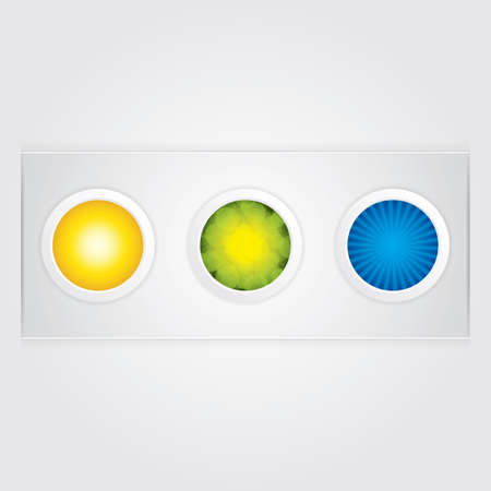 Three glossy sphere button Vector