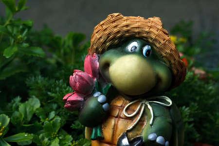 statuary garden: Turtle - decorative garden figurine