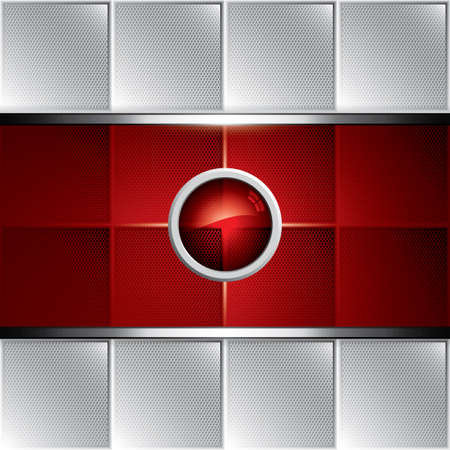 Abstract background, metallic red brochure Vector
