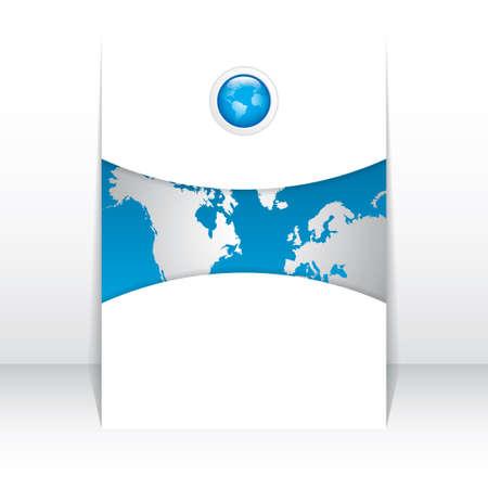 presentation folder: business brochure, flyer template