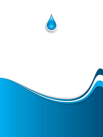 energy drink: Abstract water wave background Drop Illustration