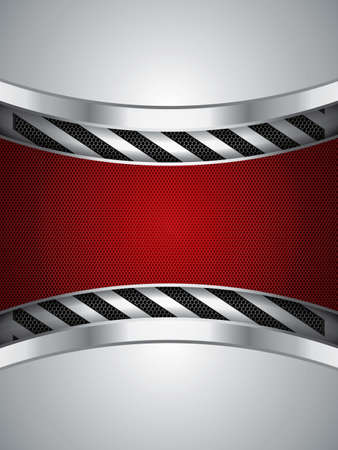 Abstrakter Hintergrund, rot metallic Broschüre, Vektor-