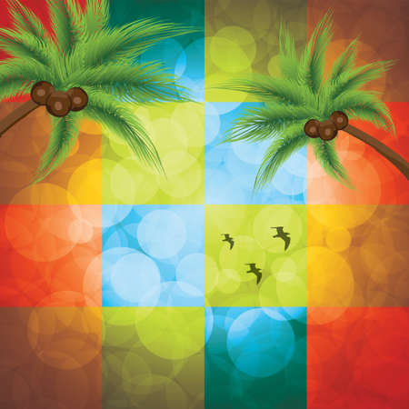 cocos: Summer holiday background Tropical poster