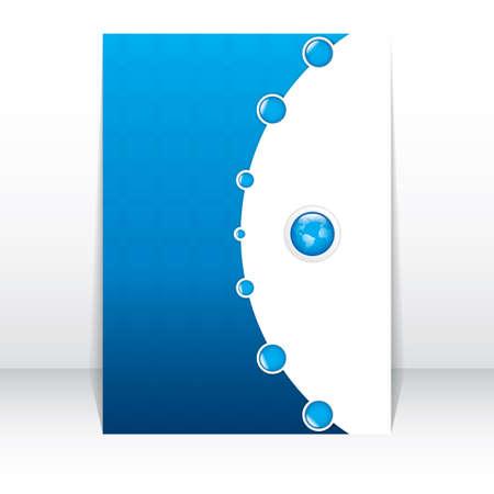 Business-Broschüre, Flyer Vorlage Illustration