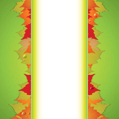 Autumnal  background Seasonal vector Stock Vector - 14445923