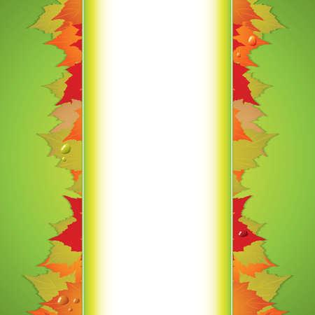 Autumnal  background Seasonal vector Stock Vector - 14445923