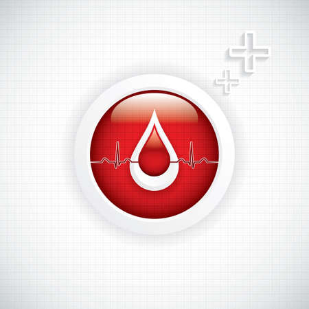 Blood donation vector Medical background Vector