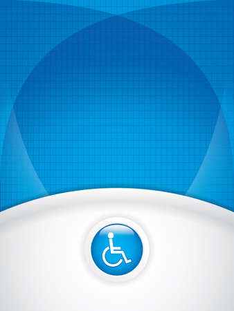medical icon: Disabled persons supporting hospital template - medical background Illustration