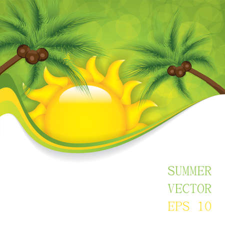 beautifull: Summer background Vector