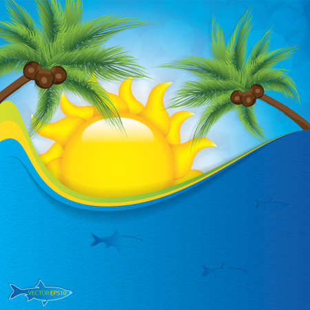 Summer background Vector Vector