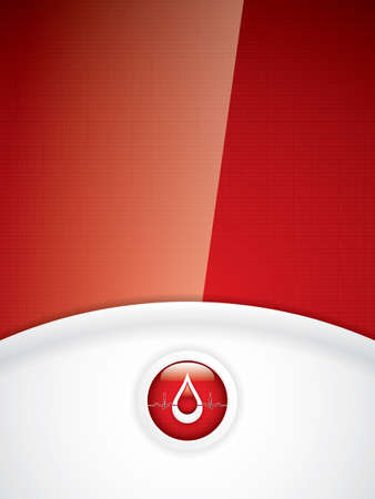 Blood donation  Medical background Vector