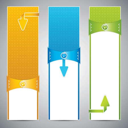 vertical banner: Three universal banner style web element