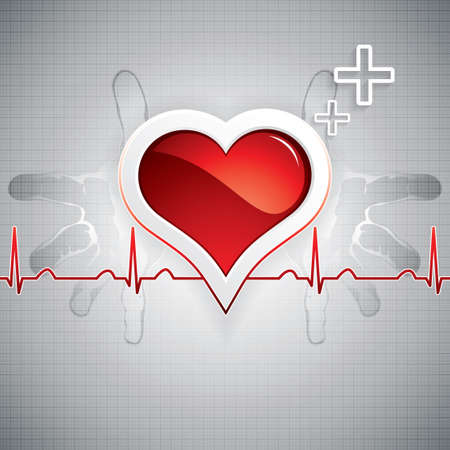 heart surgery: Vector background medico Vettoriali