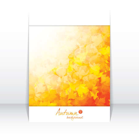 Autumnal leaf of maple and sunlight brochure Stock Vector - 14809551