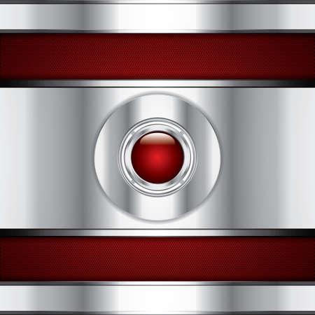 Fondo abstracto, rojo metálico folleto Ilustración de vector