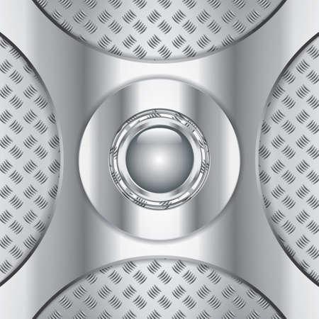 Abstract metallic background - steel style vector Stock Vector - 15215609