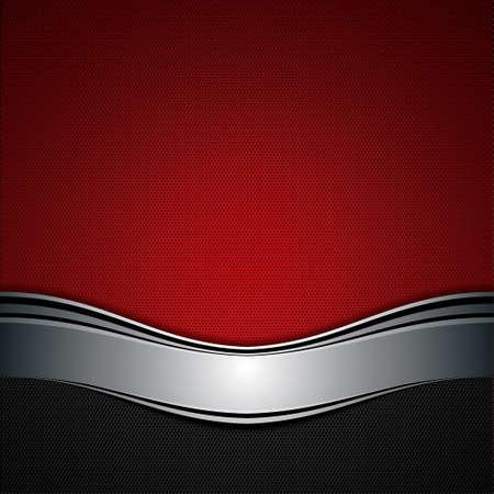 vermelho: Fundo abstrato, vermelho met�lico brochura, vetor