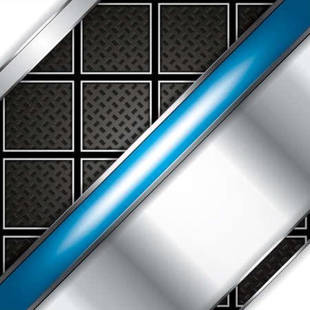 Abstract background, metallic blue brochure, vector Vector