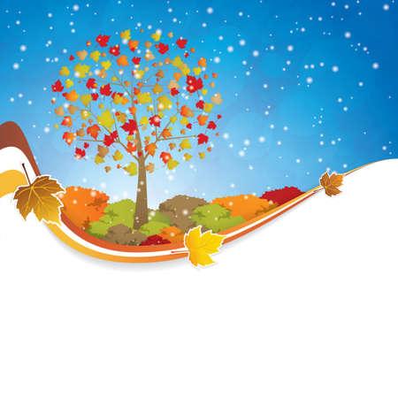 Beautiful autumn background Seasonal Stock Vector - 15144070