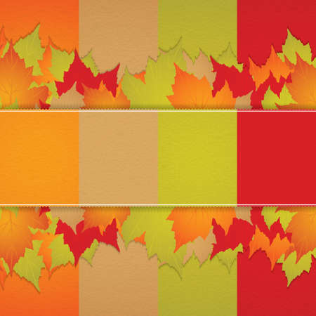 Autumn background with leaves Stock Vector - 15233862