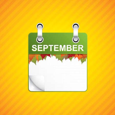 calendario septiembre: calendario septiembre Fondo del oto�o