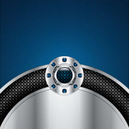 lock  futuristic: Abstract background, metallic blue brochure