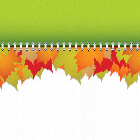 calendar Autumn background Vector
