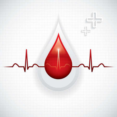 donations: Blood donation Medical background Illustration