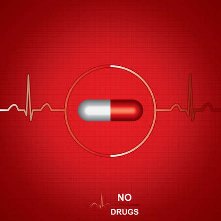 Anti drug medical background Vector Vector