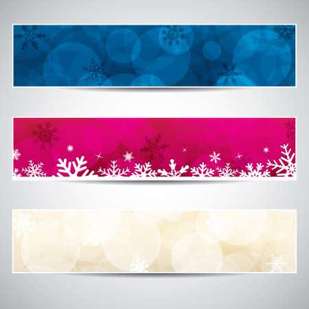winter sale: Set of horizontal Christmas banners