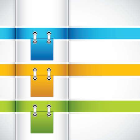 Modernes Design Template Ribbon Illustration