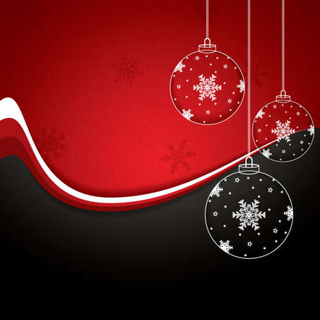 festive season: Christmas background with baubles Illustration