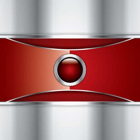 Abstract background, metallic red brochure, vector Stock Vector - 16195960