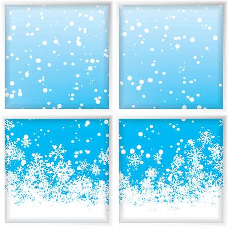through the window: Winter through a window Vector