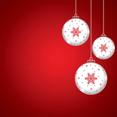 Christmas balls - cut the paper vector Vector