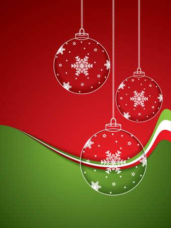 Christmas balls - cut the paper vector Vector