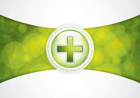 homeopathic: Alternative medication concept - medical cross vector