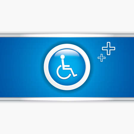 Disabled persons supporting hospital template - medical background Vector