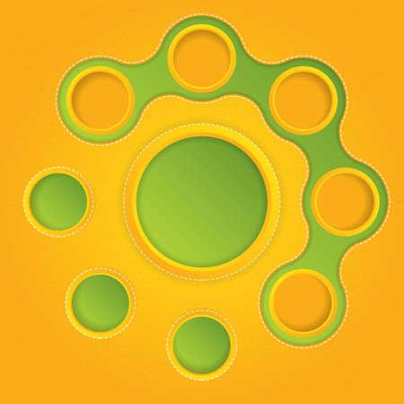 Abstract retro web design bubble Stock Vector - 16298108